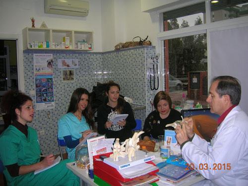 Imagen de una clase teórica del curso auxiliar técnico veterinario en Málaga